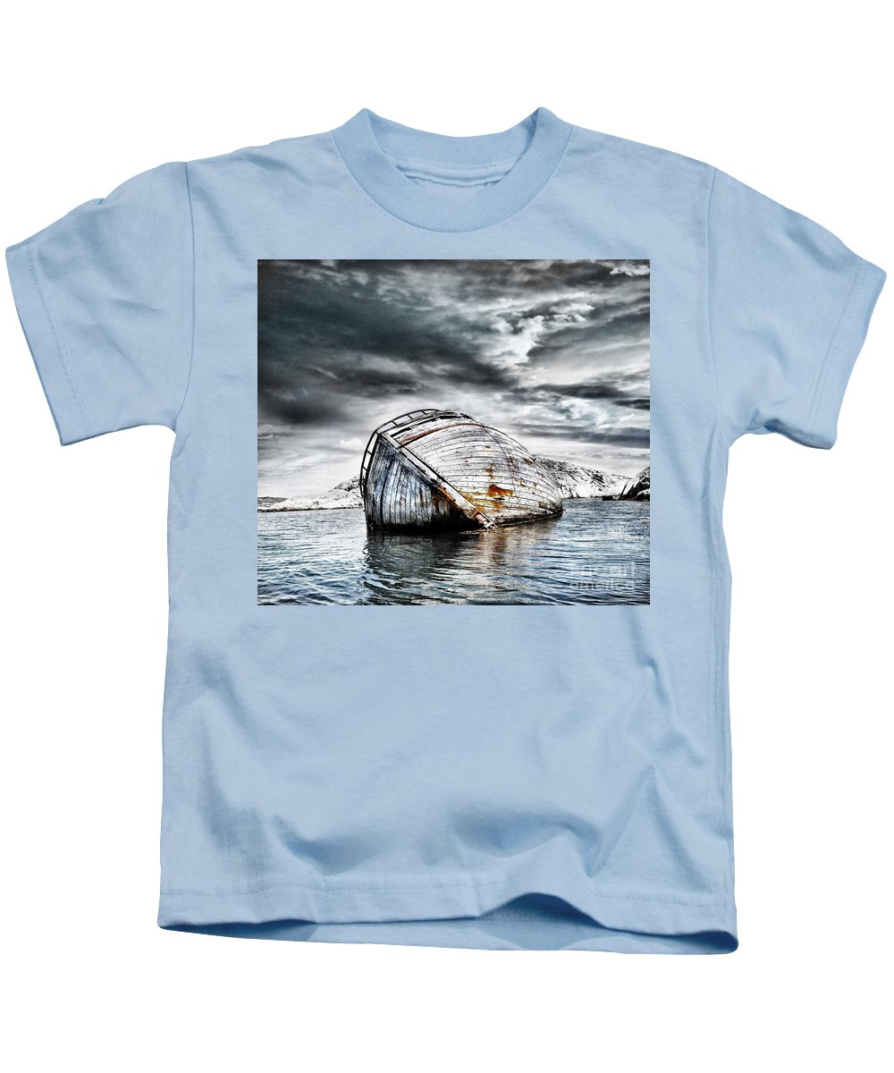 Photodream Kids T-Shirt featuring the photograph Past Glory by Jacky Gerritsen