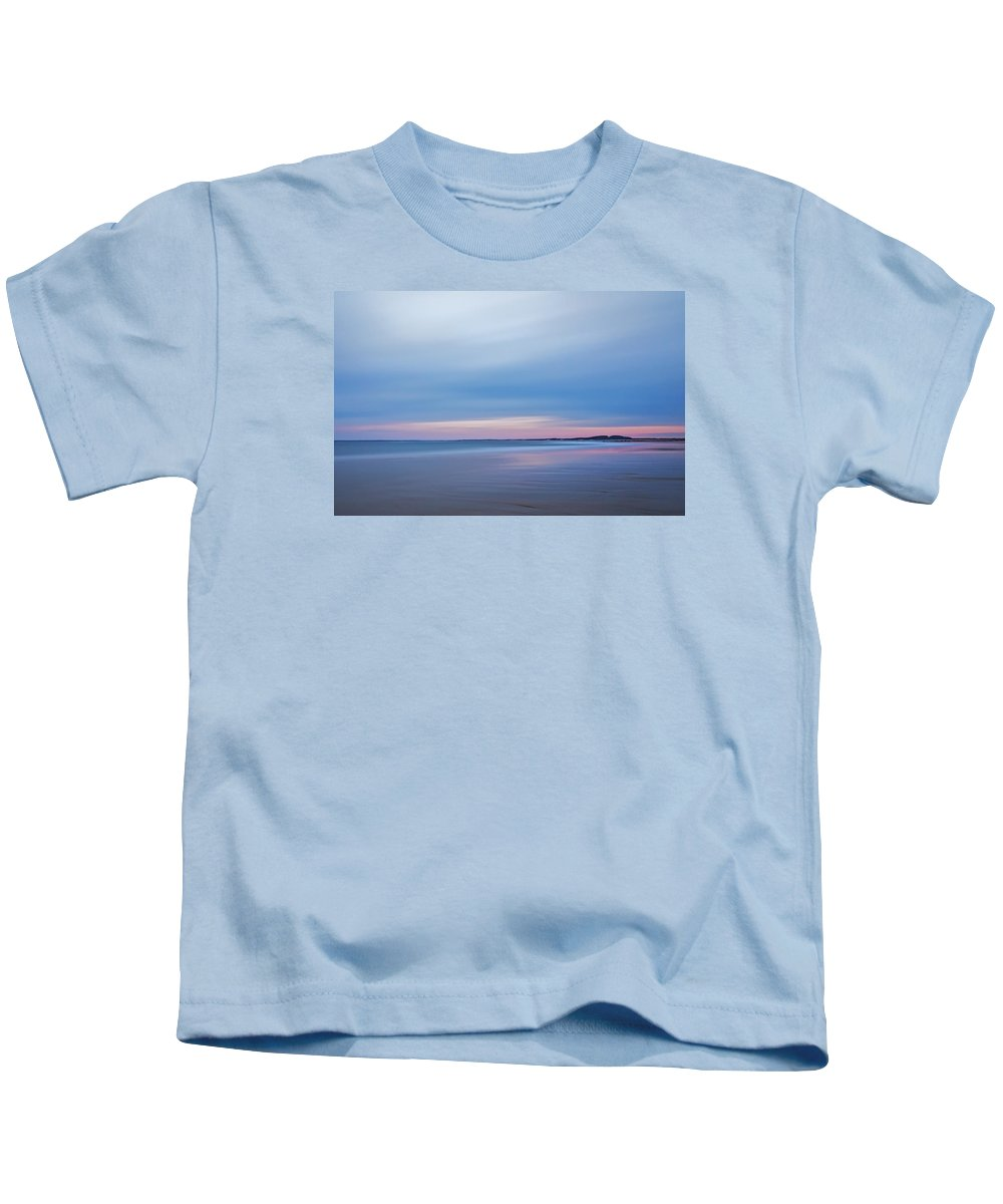 New England Kids T-Shirt featuring the photograph Pastel Evening Light On Blue Hour Plum Island by Scott Snyder