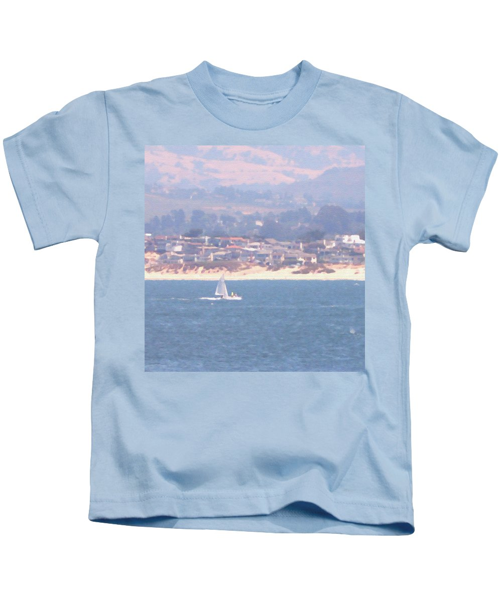 Sailing Kids T-Shirt featuring the photograph Pastel Sail by Pharris Art