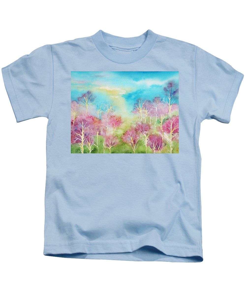 Landscape Kids T-Shirt featuring the painting Pastel Spring by Brenda Owen