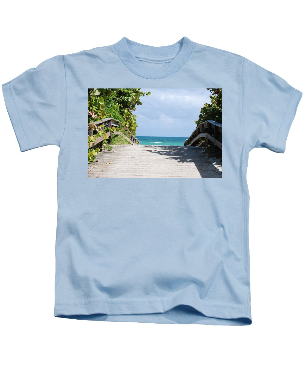 Sea Scape Kids T-Shirt featuring the photograph Path To Paradise by Rob Hans