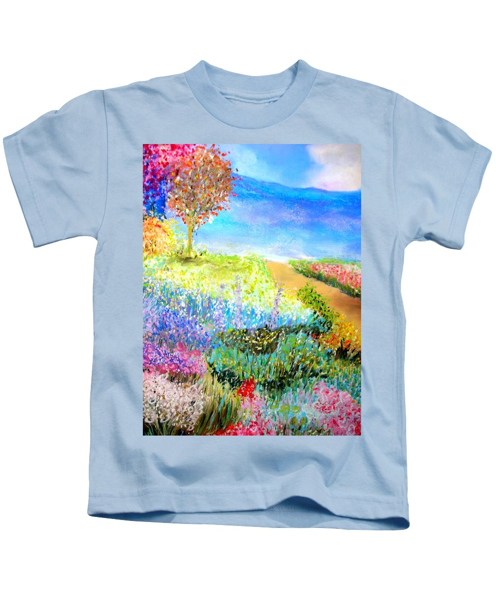 Landscape Kids T-Shirt featuring the print Patricia's Pathway by Melinda Etzold