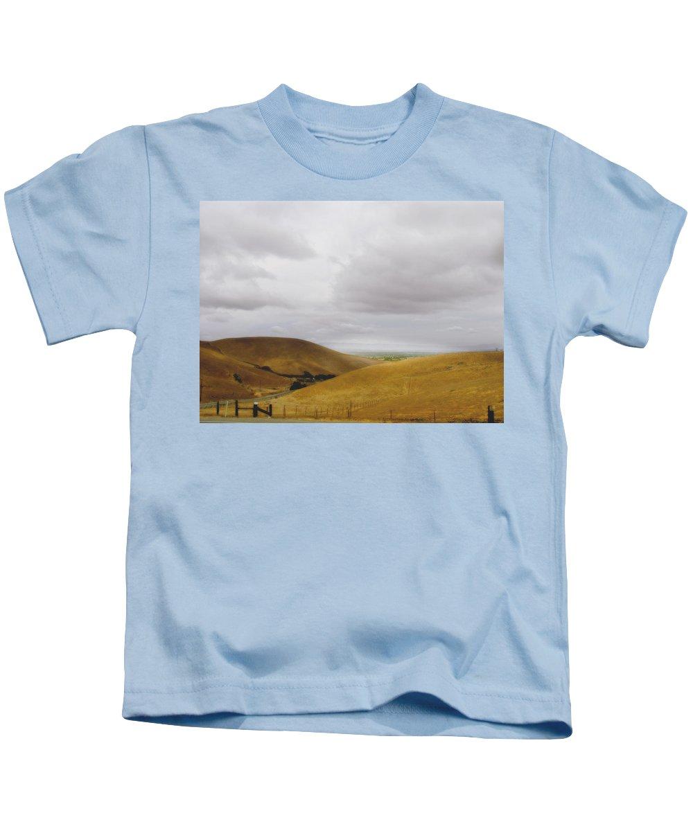 Landscape Kids T-Shirt featuring the photograph Patterson Pass Road by Karen W Meyer