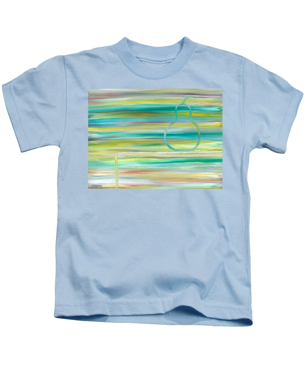 Pear Kids T-Shirt featuring the painting Pear On Table by Patrick J Murphy
