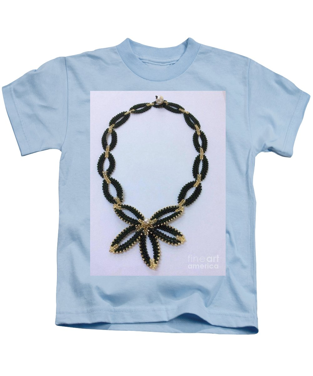 Pendant Kids T-Shirt featuring the jewelry Pendant With Beads 1 by Blerta Kajolli Fisheku