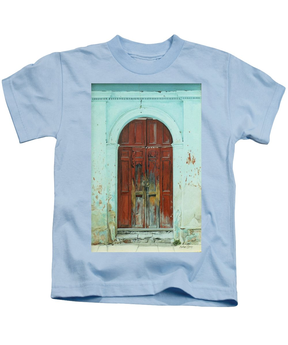Hyperrealism Kids T-Shirt featuring the painting Peonza Perdida by Michael Earney