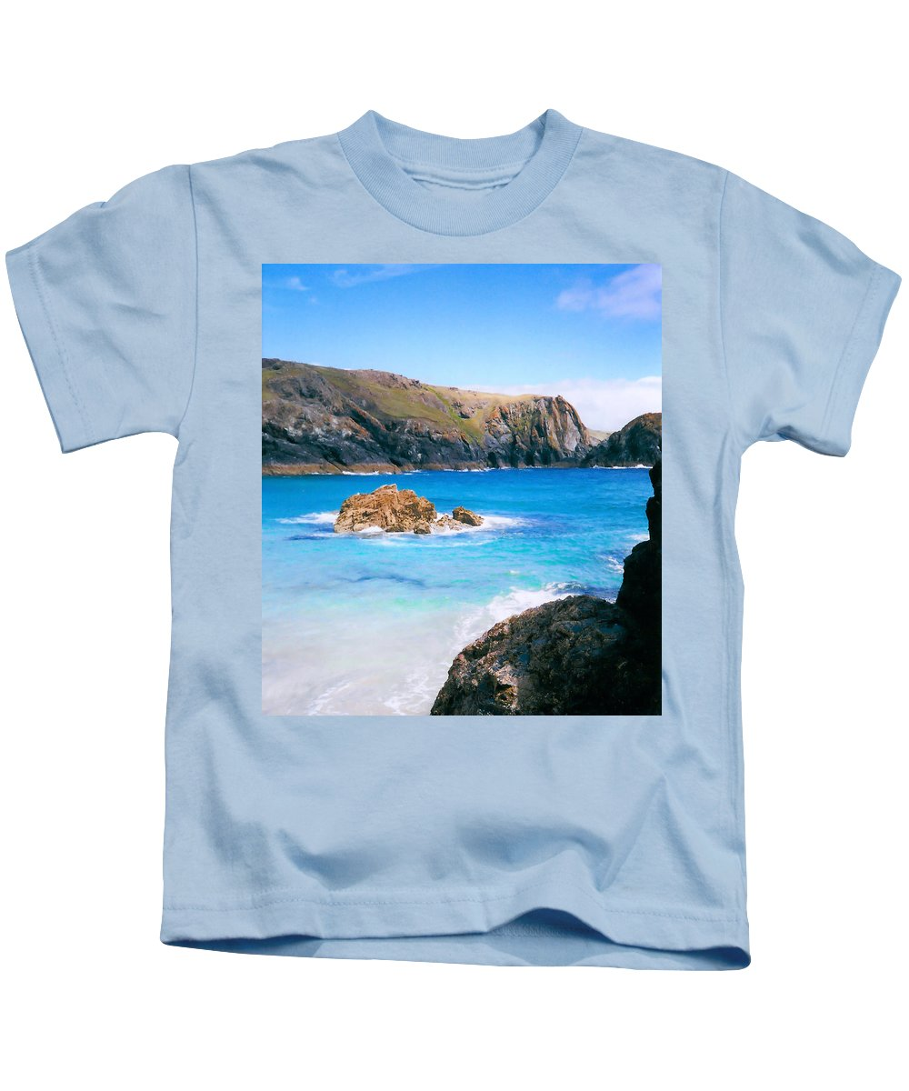 Pat Turner Kids T-Shirt featuring the photograph Perfect Blue Water by Pat Turner