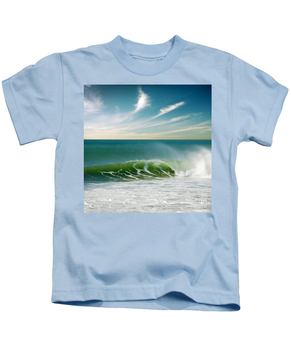 Atlantic Kids T-Shirt featuring the photograph Perfect Wave by Carlos Caetano