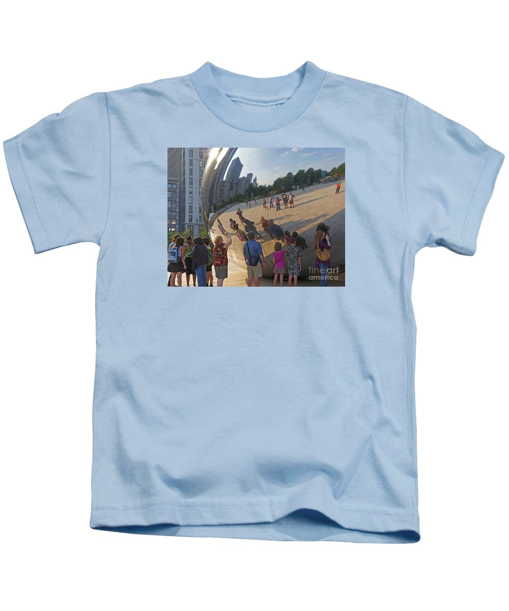 Chicago Kids T-Shirt featuring the photograph Photographers All by Ann Horn