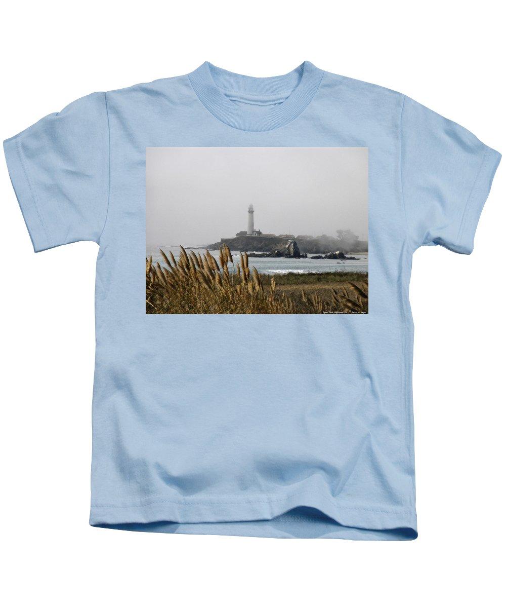 Landscape Kids T-Shirt featuring the photograph Piegeon Point Lighthouse by Karen W Meyer
