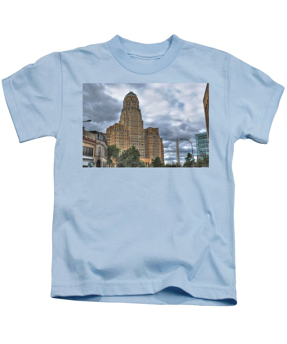 Kids T-Shirt featuring the photograph Piercing The Heavens by Michael Frank Jr