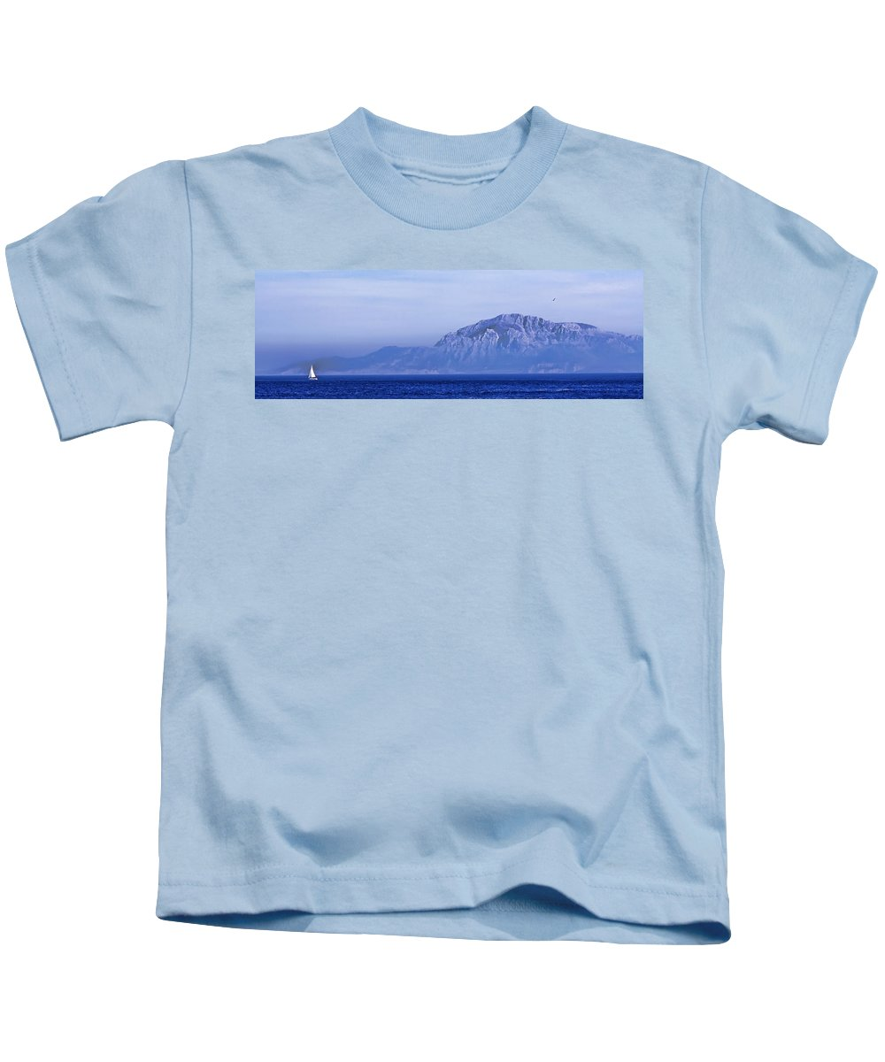 Atlas Mountains Kids T-Shirt featuring the photograph Pilars Of Hercules by Donovan Torres