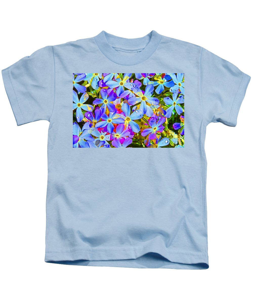 Wildflower Kids T-Shirt featuring the photograph Pincushion Flower by Heather Coen