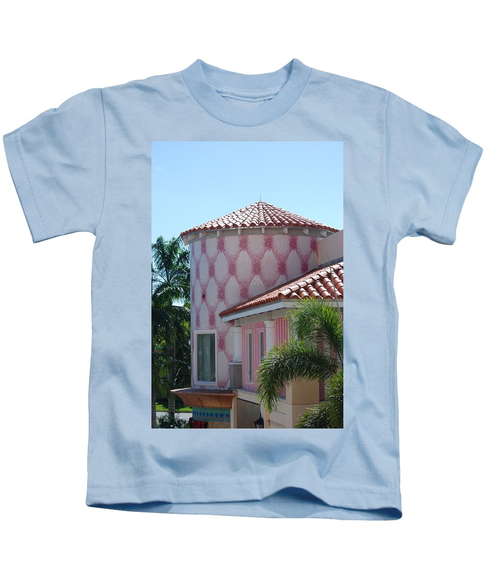 Architecture Kids T-Shirt featuring the photograph Pink Tower by Rob Hans