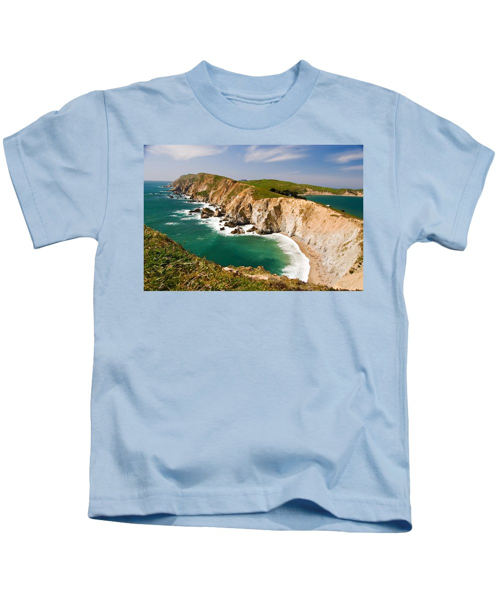 Elephant Seal Kids T-Shirt featuring the photograph Point Reyes National Seashore by Renee Hong