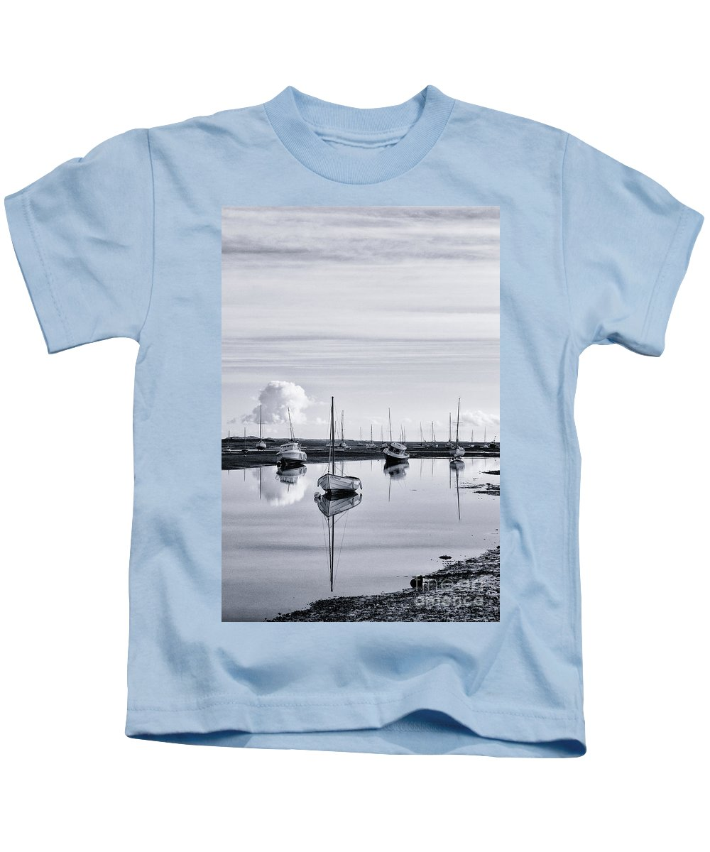 Sailing Dinghy Kids T-Shirt featuring the photograph Reflections In A Creek by John Edwards
