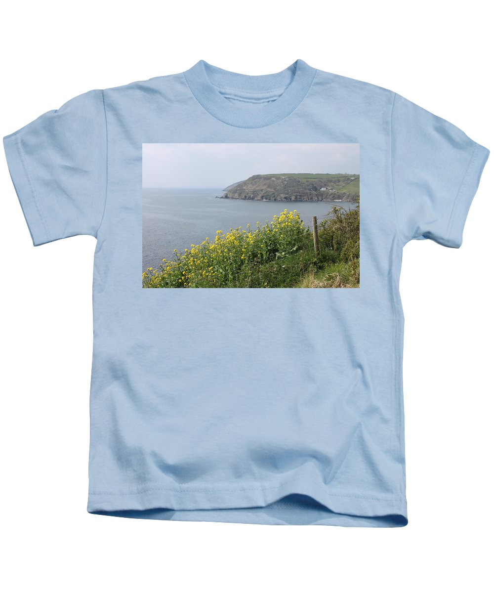 Polperro Kids T-Shirt featuring the photograph Polperro To Looe by Lauri Novak