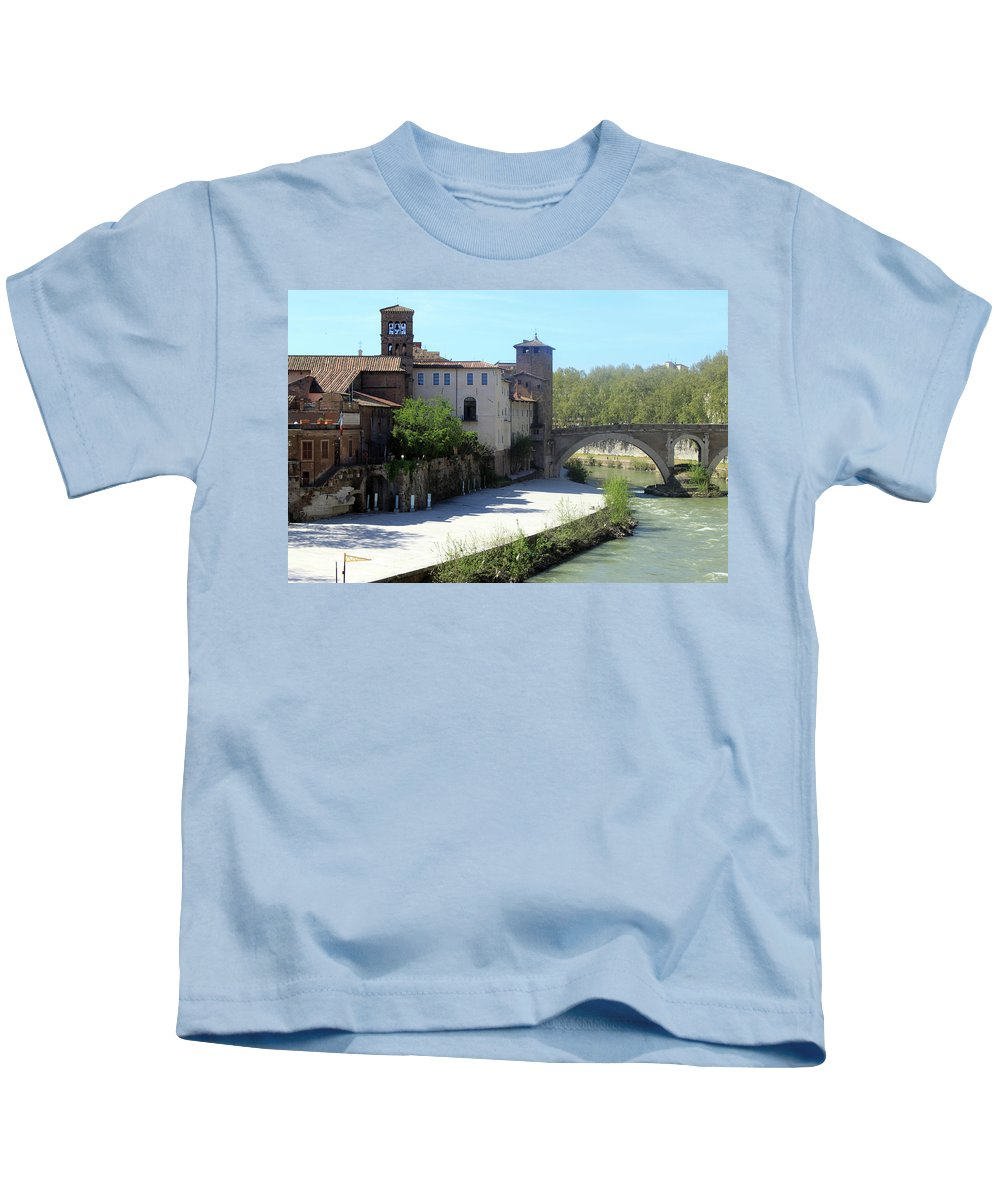 Rome Kids T-Shirt featuring the photograph Ponte Cestio by Munir Alawi