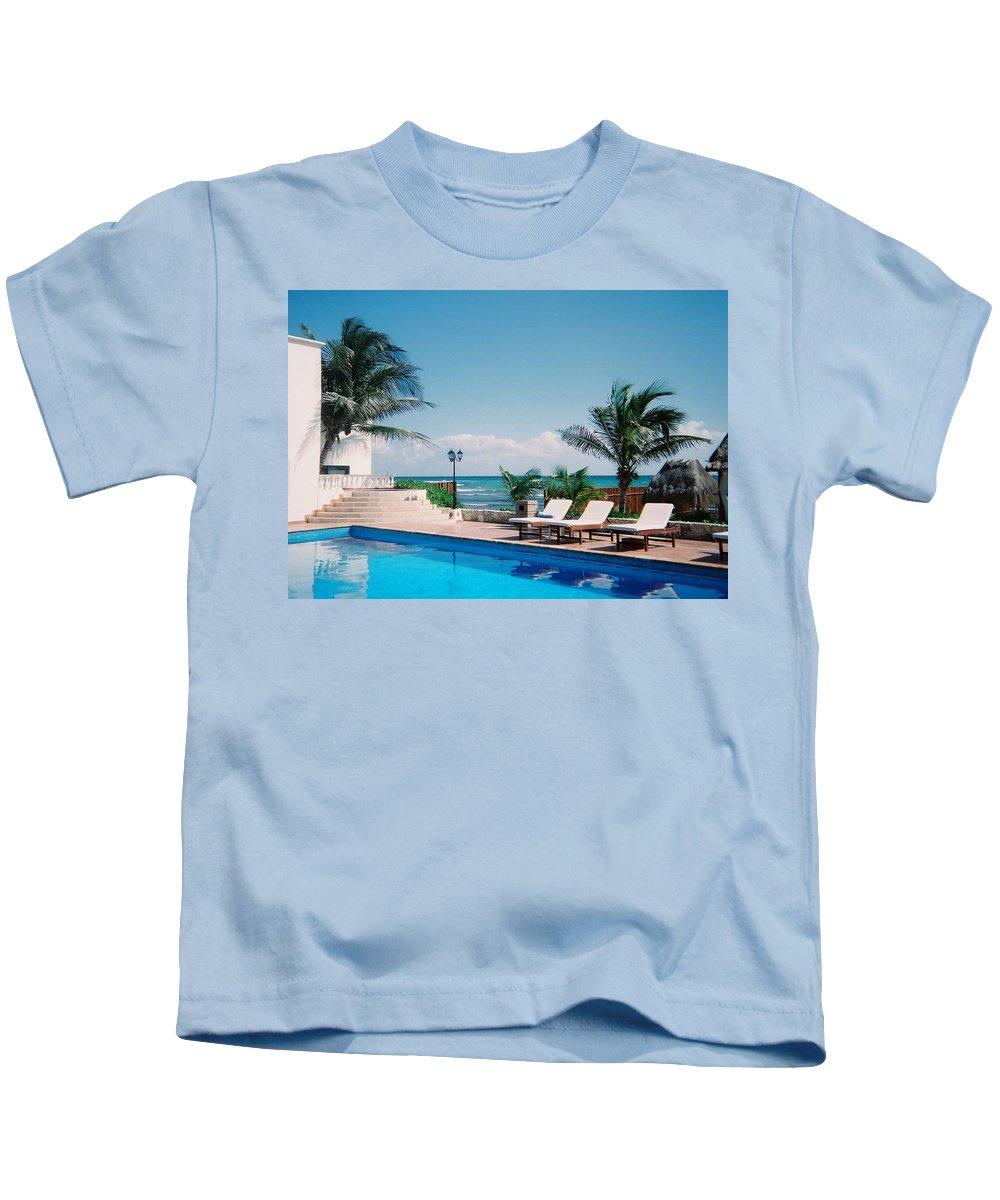 Resort Kids T-Shirt featuring the photograph Poolside by Anita Burgermeister