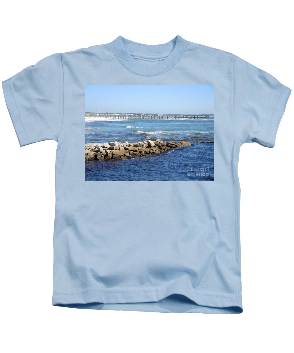 Mexico Beach Kids T-Shirt featuring the photograph Postcard Perfect by Lucyna A M Green