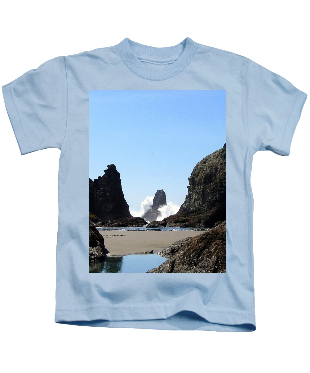 Wave Kids T-Shirt featuring the photograph Powerful Sea by Will Borden