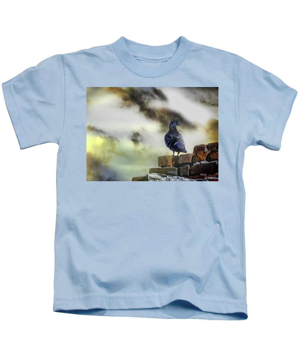 Pigeon Kids T-Shirt featuring the photograph Proud To Be A Pigeon by Bob Orsillo