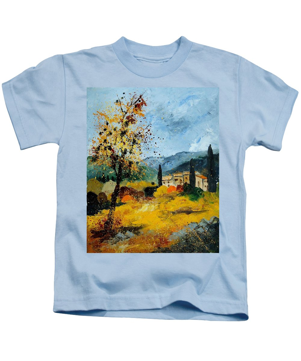 Provence Kids T-Shirt featuring the painting Provence 45 by Pol Ledent