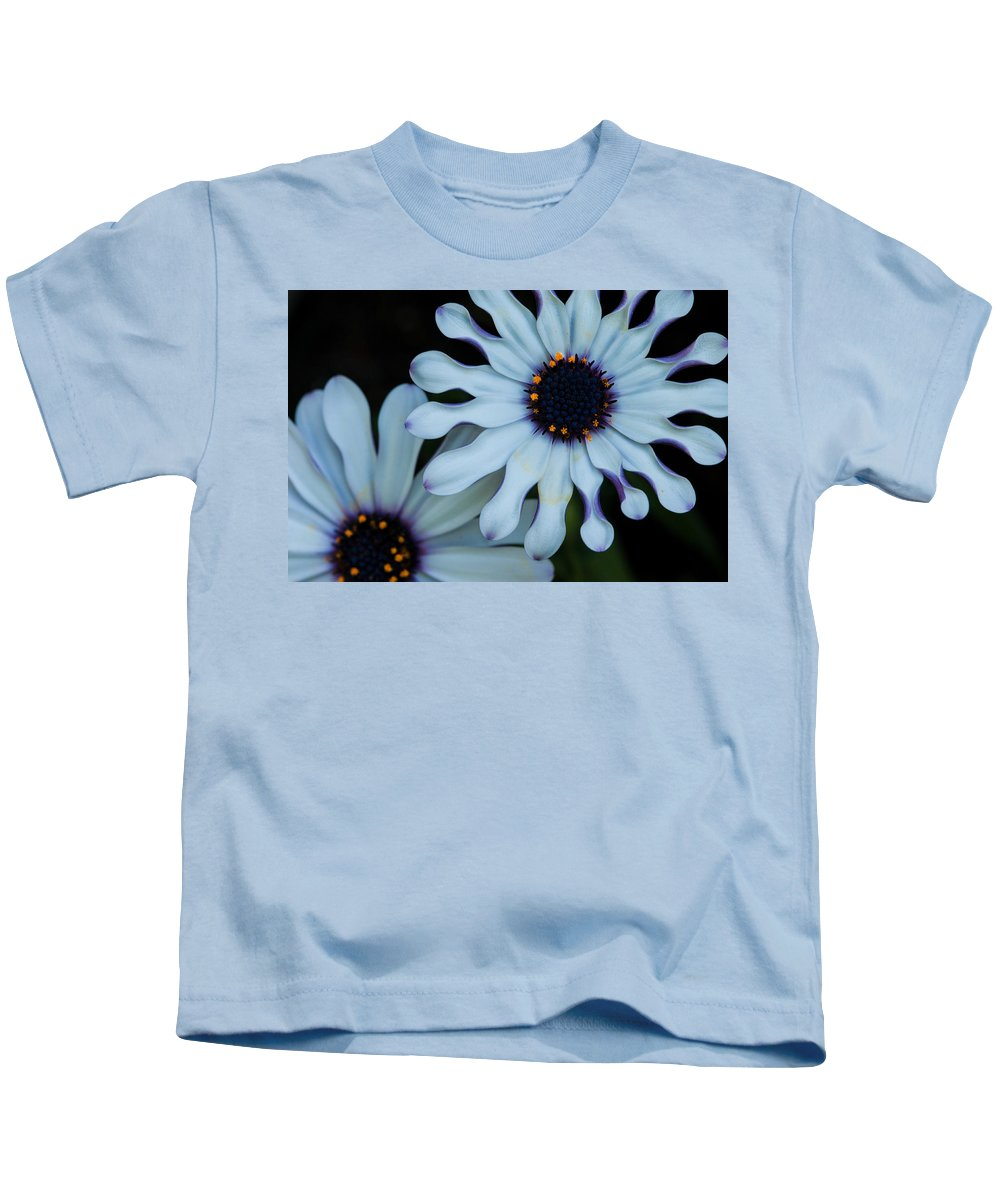 Summer Kids T-Shirt featuring the digital art Purple And White by Nathan Wright