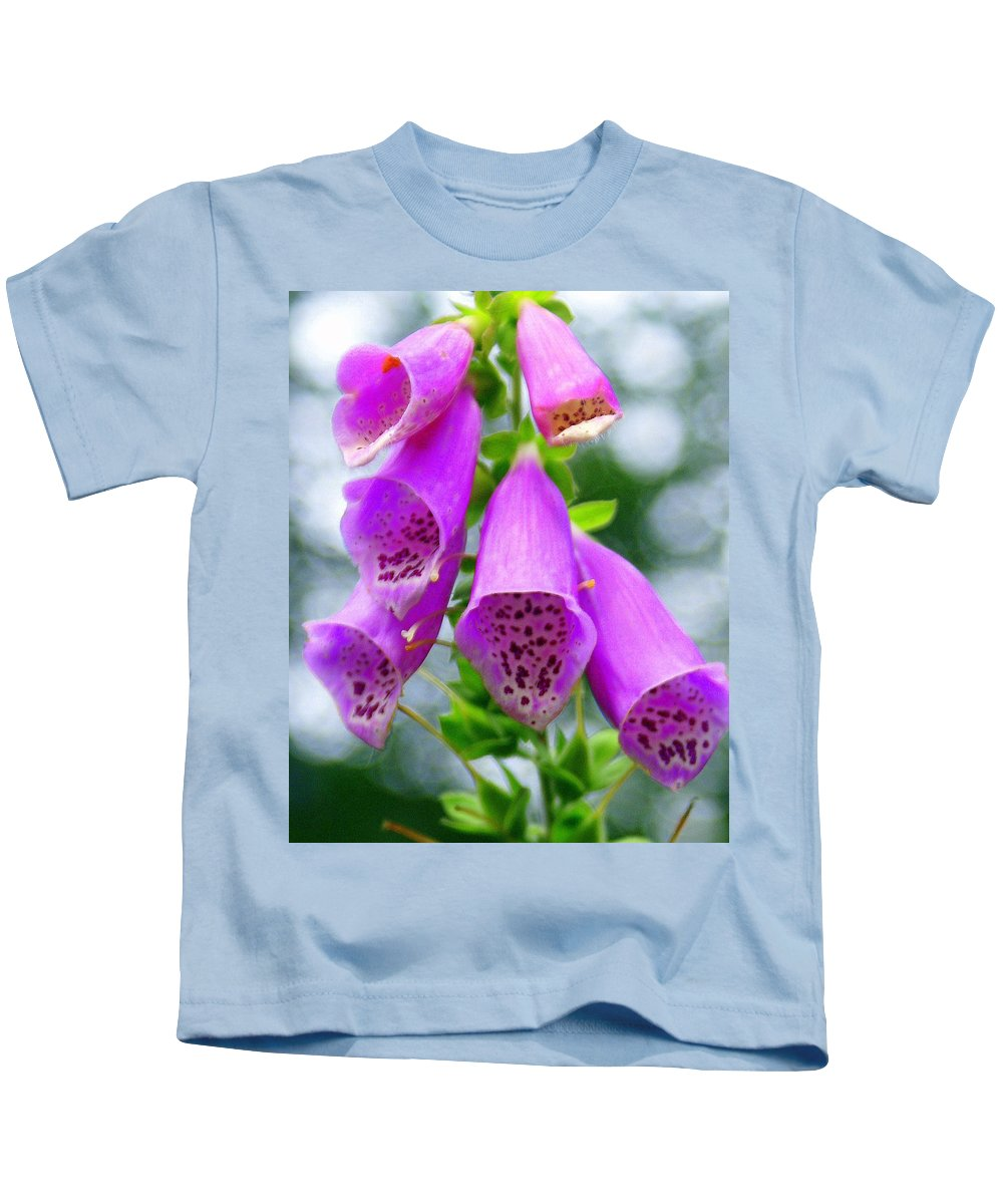 Flowers Kids T-Shirt featuring the photograph Purple Bells by Marty Koch