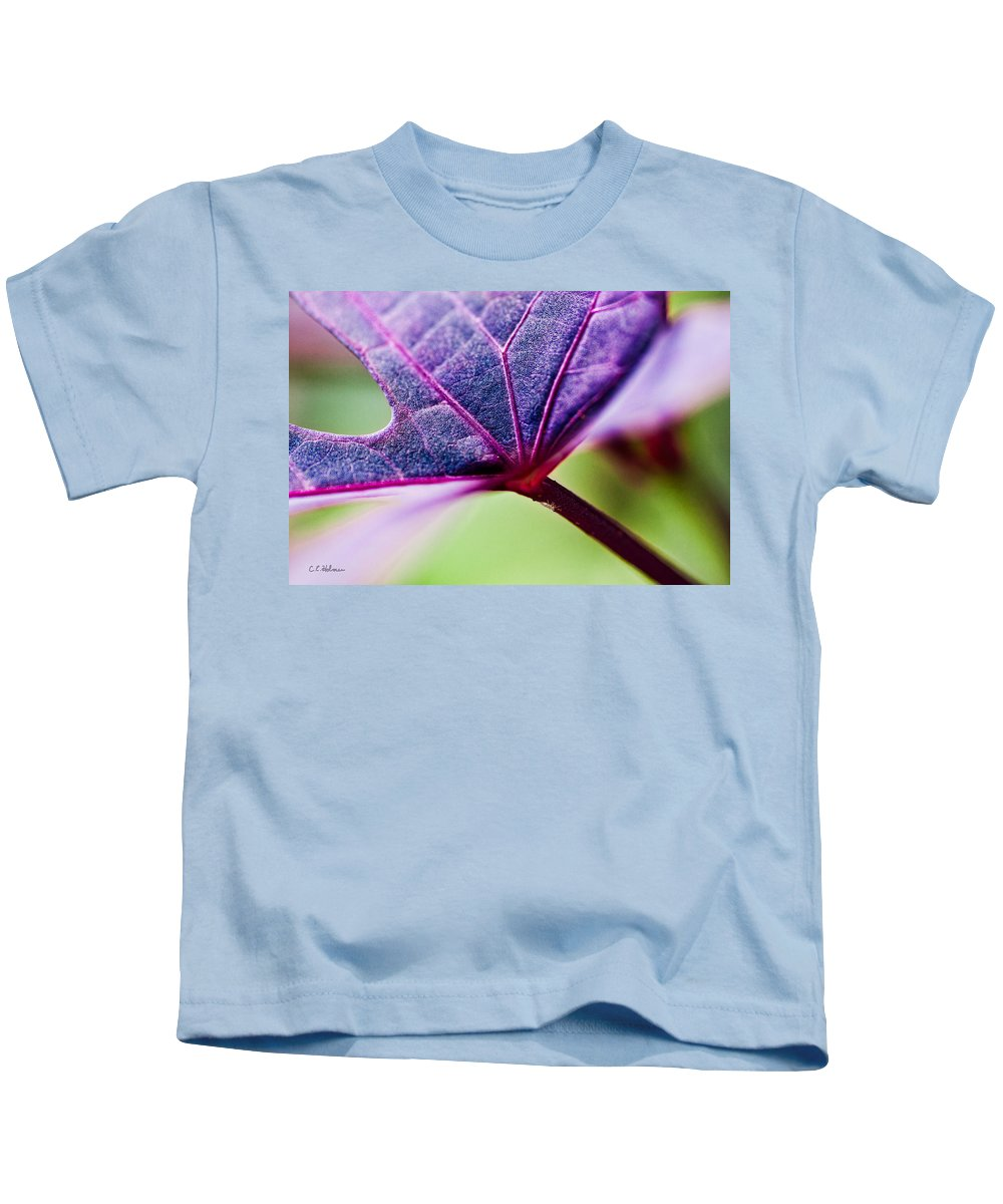 Flora Kids T-Shirt featuring the photograph Purple Veins by Christopher Holmes