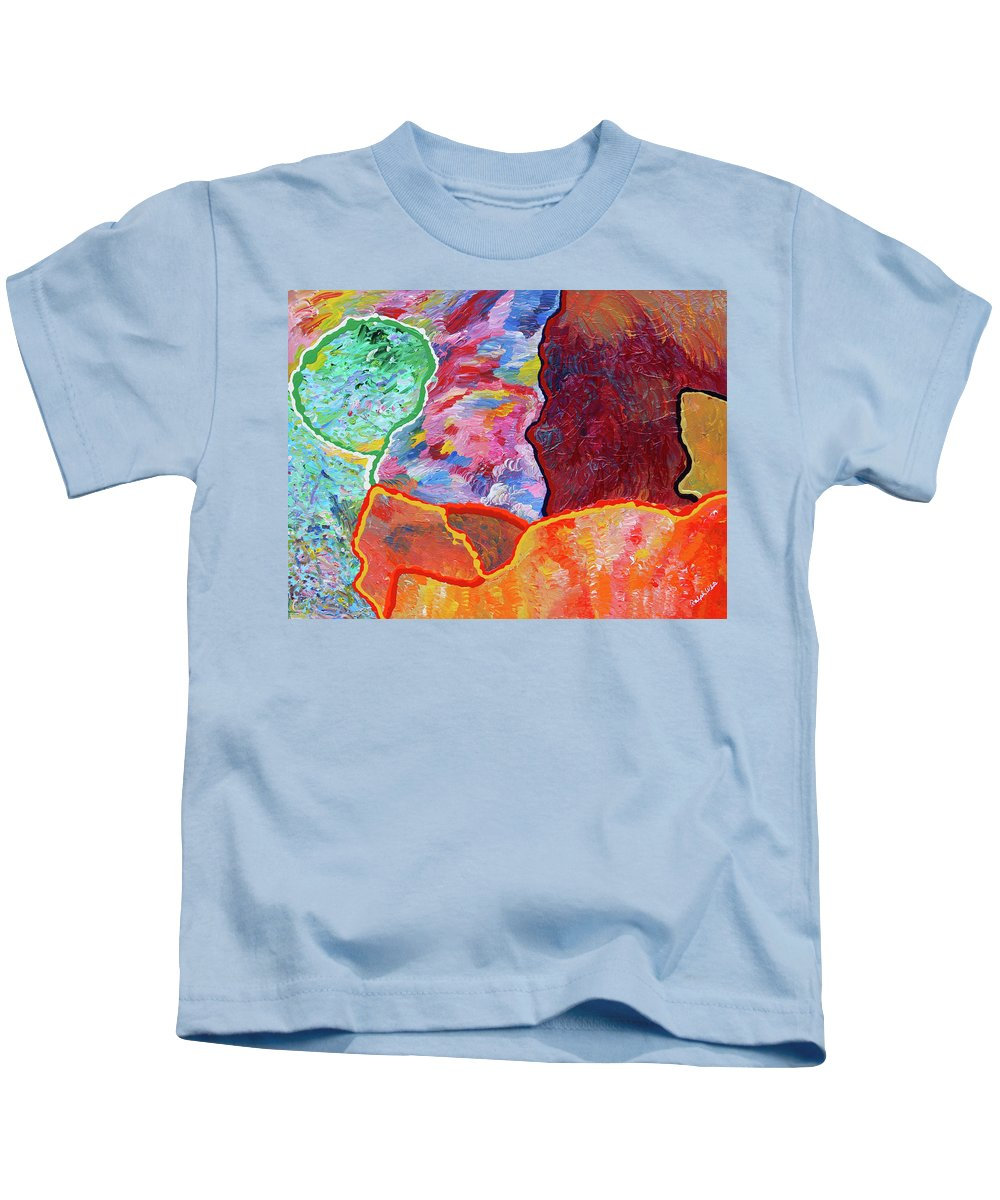 Fusionart Kids T-Shirt featuring the painting Puzzle by Ralph White