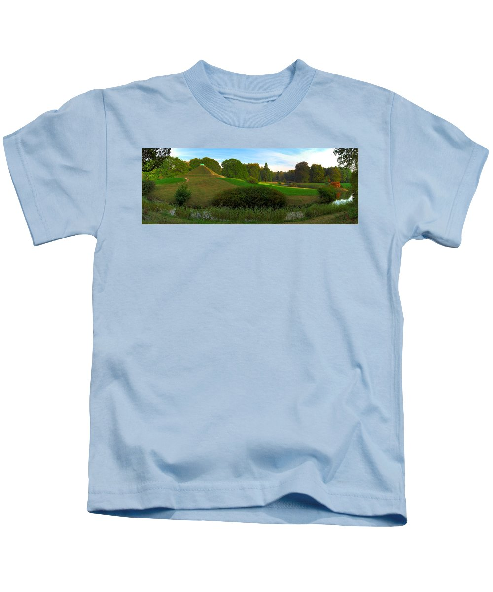 Landscape Park Kids T-Shirt featuring the photograph Pyramid In The Pueckler Park by Sun Travels