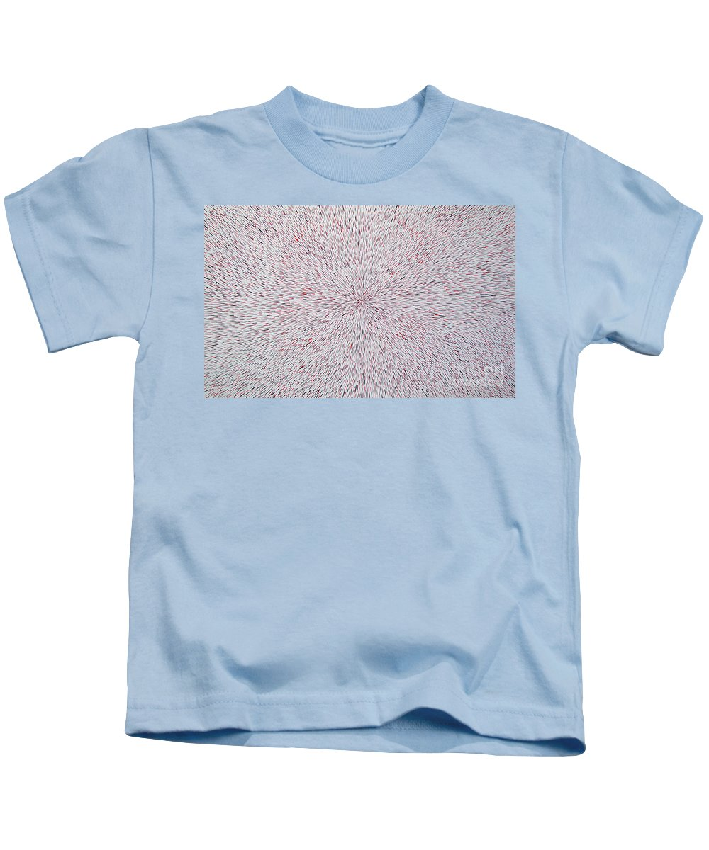 Abstract Kids T-Shirt featuring the painting Radiation With Black And Red by Dean Triolo