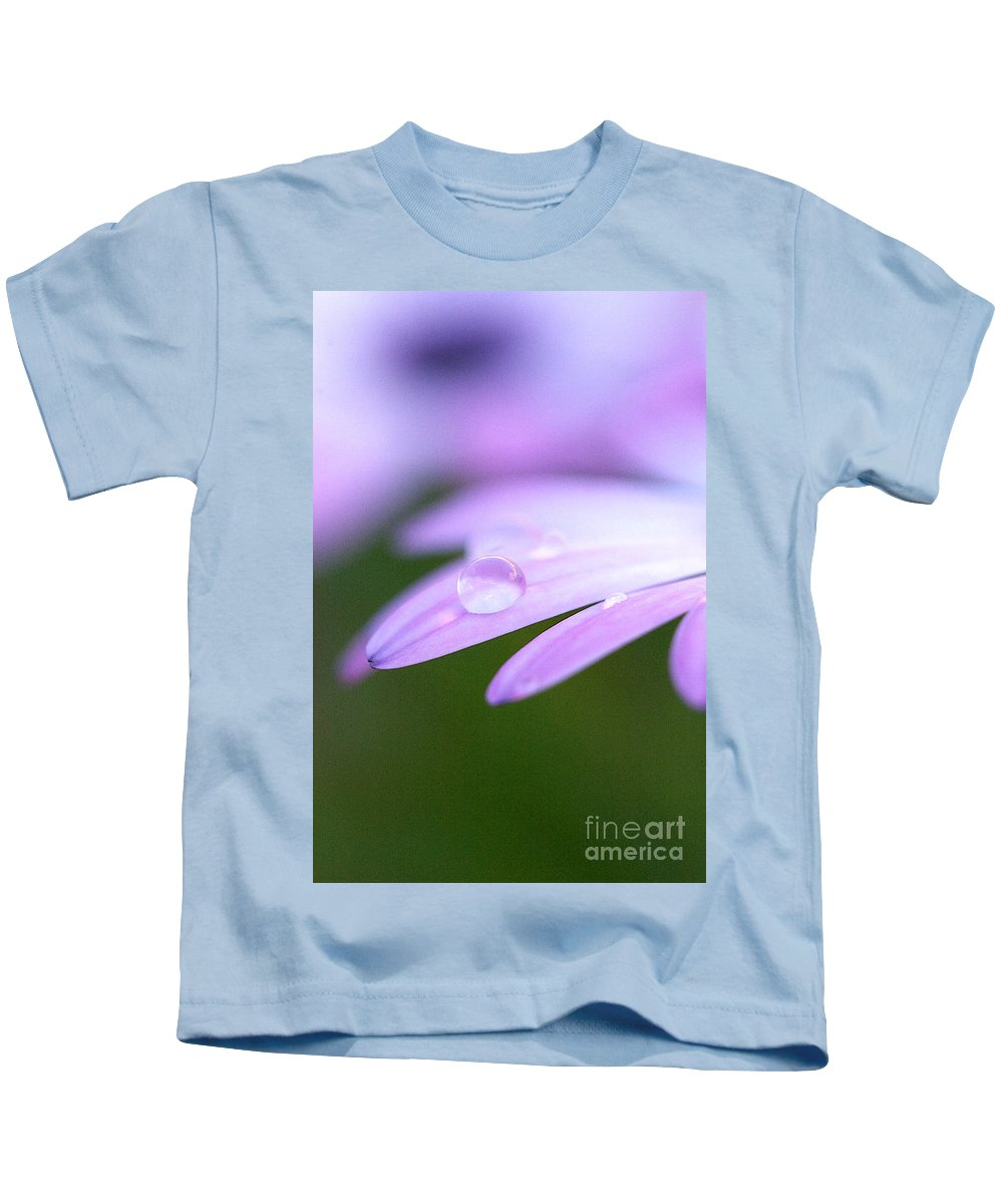Rain Kids T-Shirt featuring the photograph Rain Droplets On A Daisy by Brooke Roby