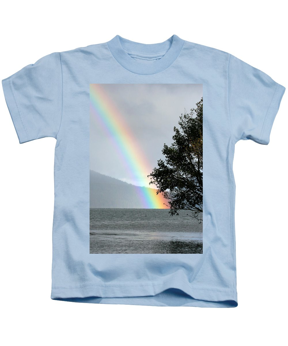 Color Kids T-Shirt featuring the photograph Rainbow Over Odell by Randall Ingalls