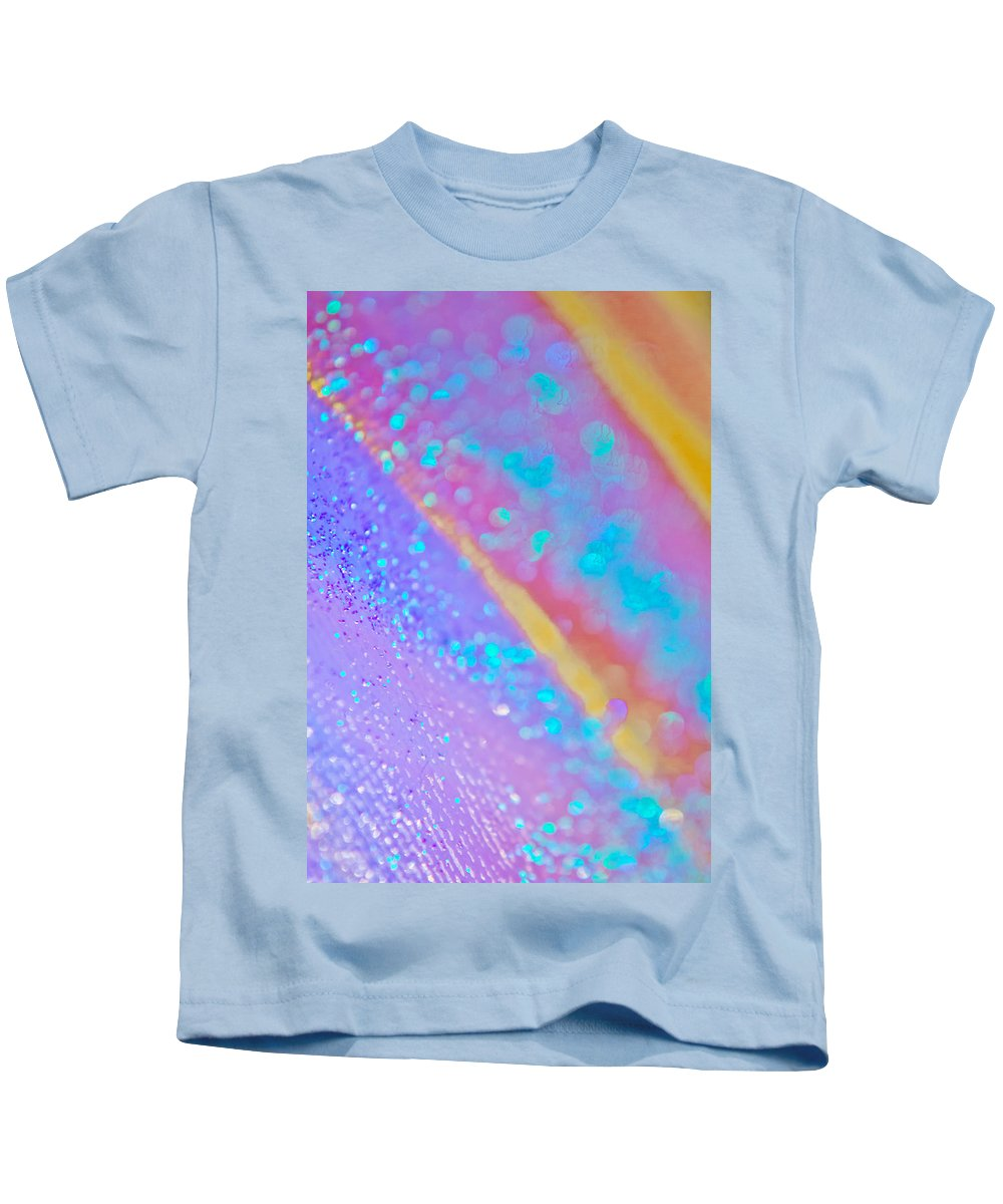 Abstract Kids T-Shirt featuring the photograph Rainbow Spell 2 by Alex Art and Photo