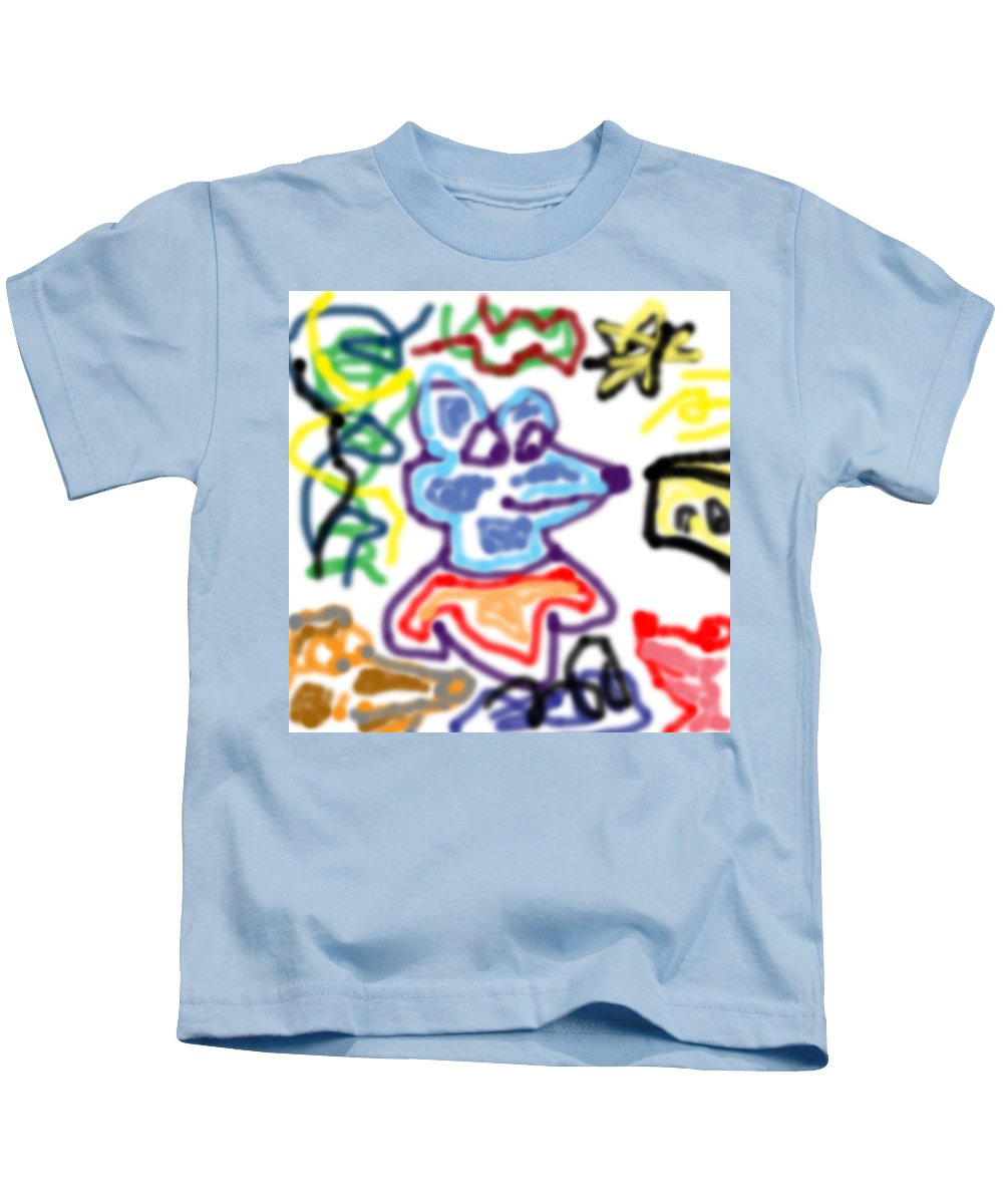 Rat Kids T-Shirt featuring the digital art Rat Doodle by Blind Ape Art