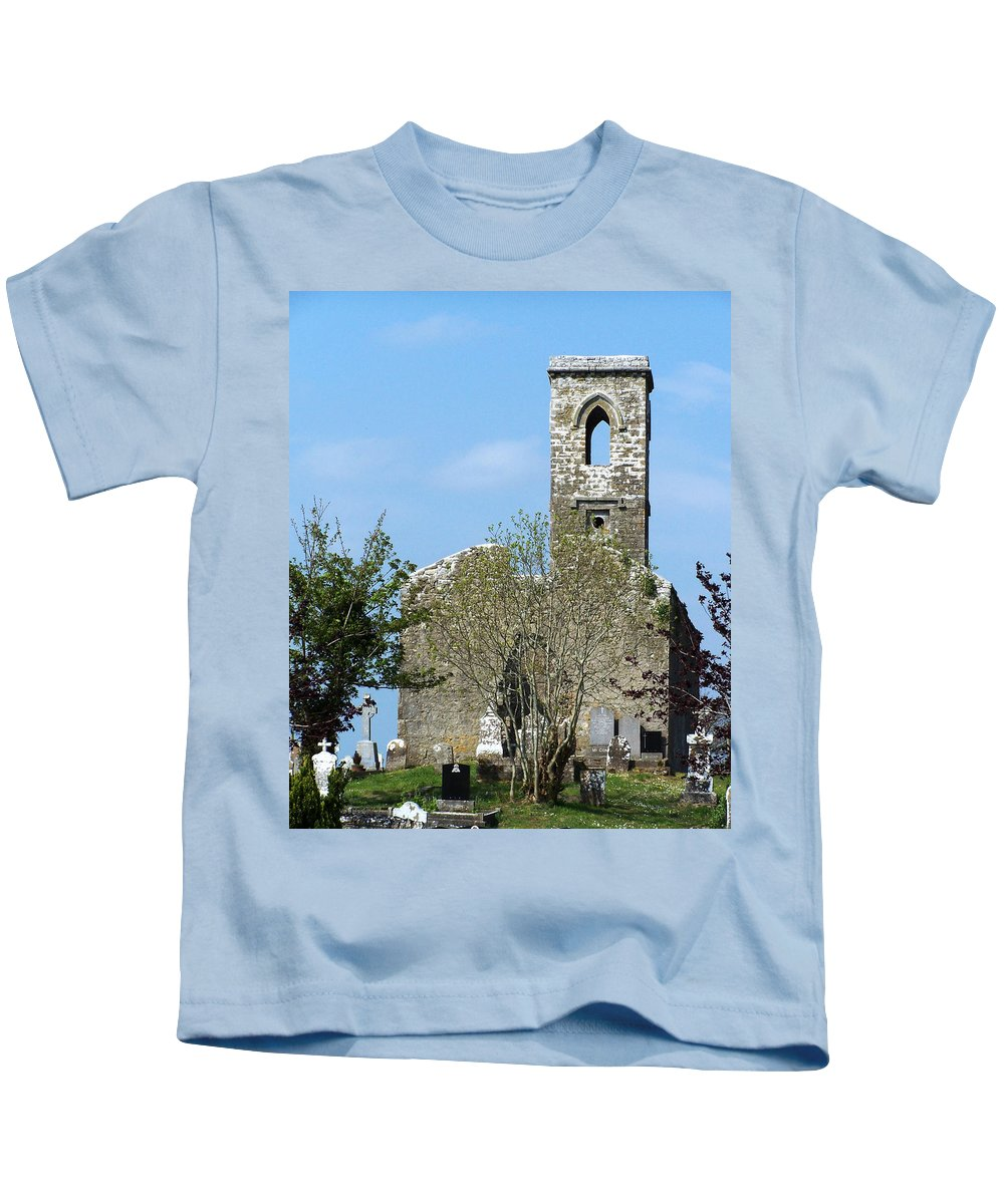 Fuerty Kids T-Shirt featuring the photograph Rear View Fuerty Church And Cemetery Roscommon Ireland by Teresa Mucha