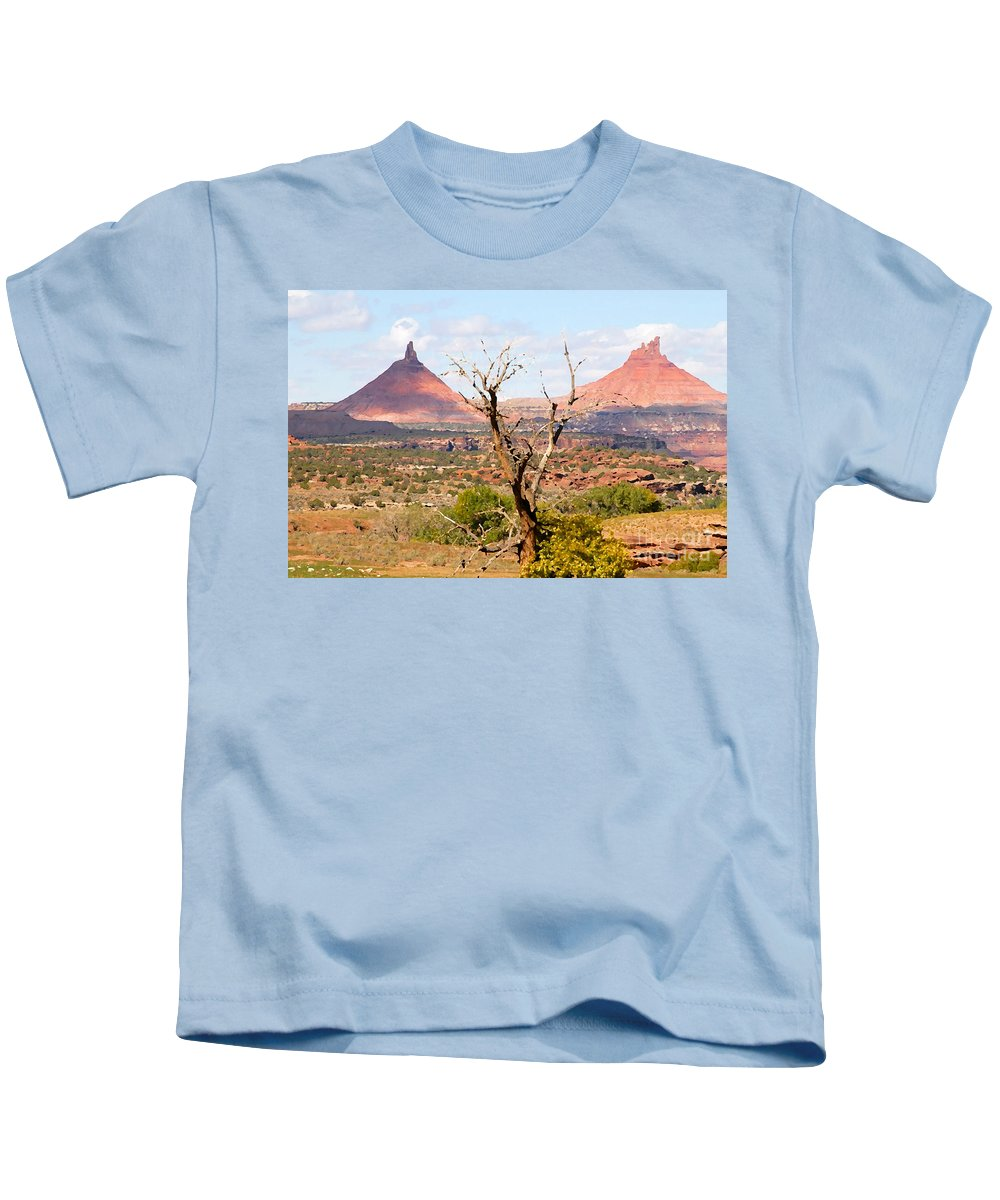 Buttes Kids T-Shirt featuring the photograph Red Buttes by David Lee Thompson