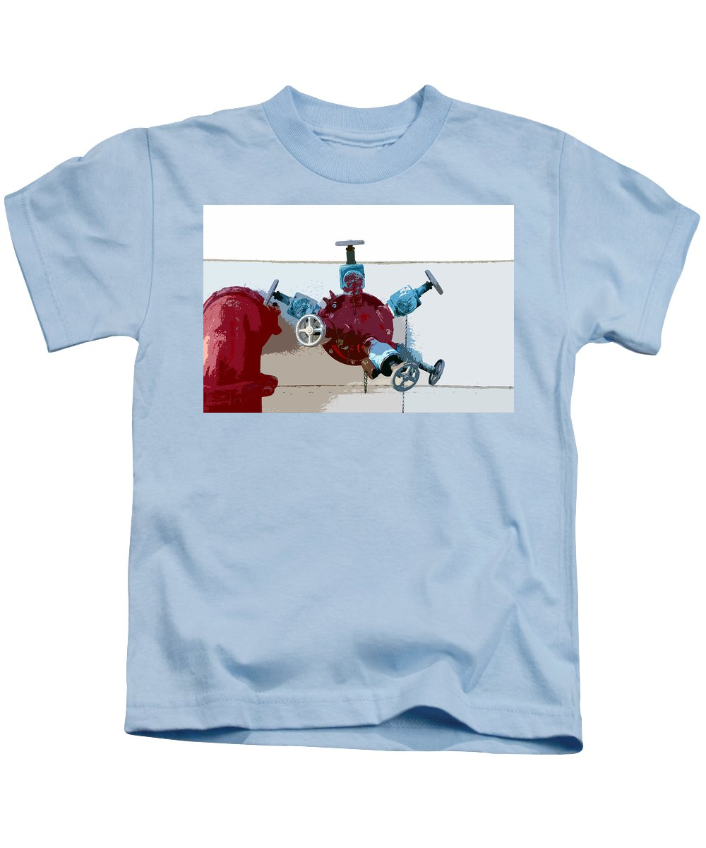 Art Kids T-Shirt featuring the photograph Red Pump by David Lee Thompson