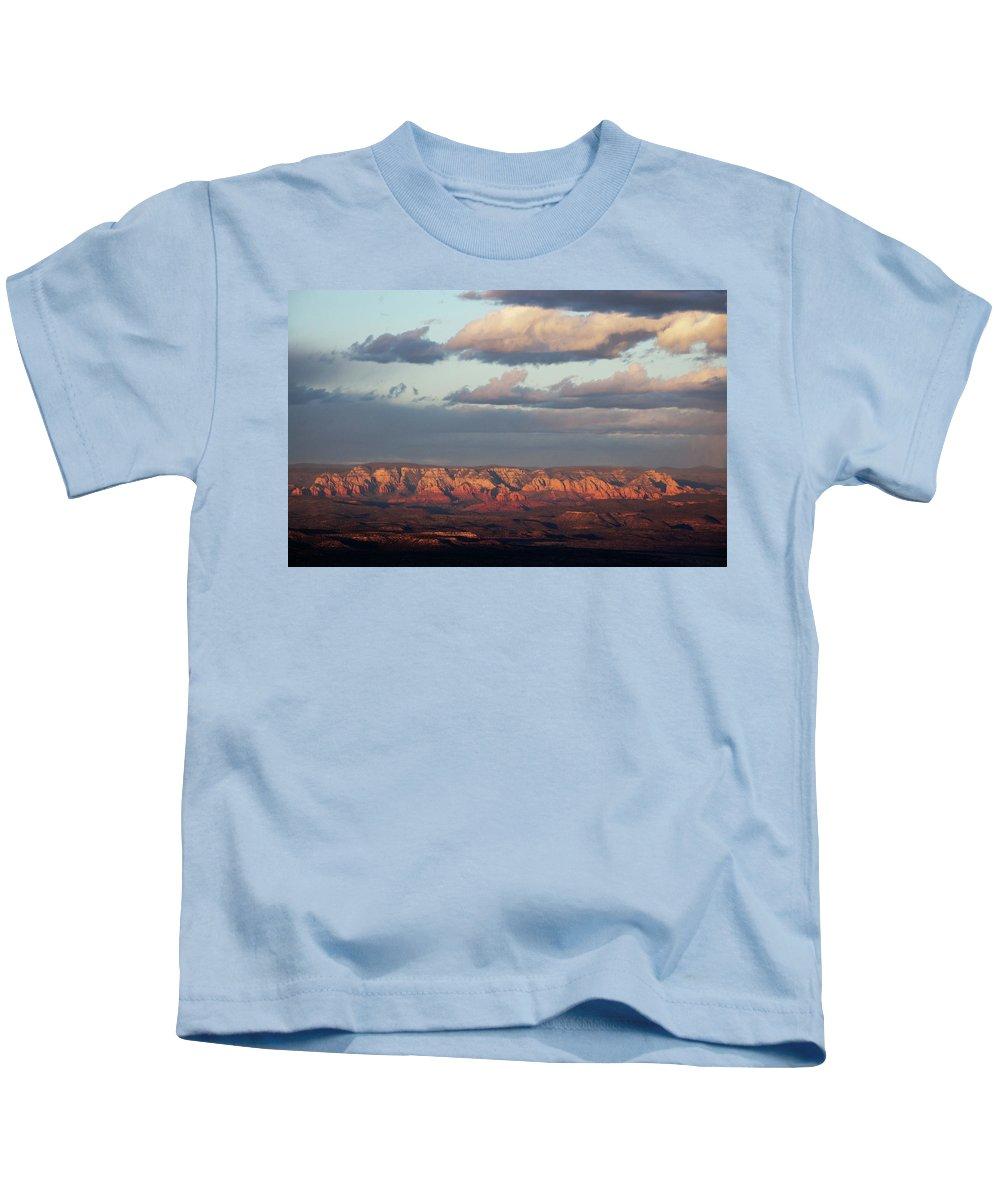 Sedona Arizona Kids T-Shirt featuring the photograph Red Rock Crossing, Sedona by Ron Chilston