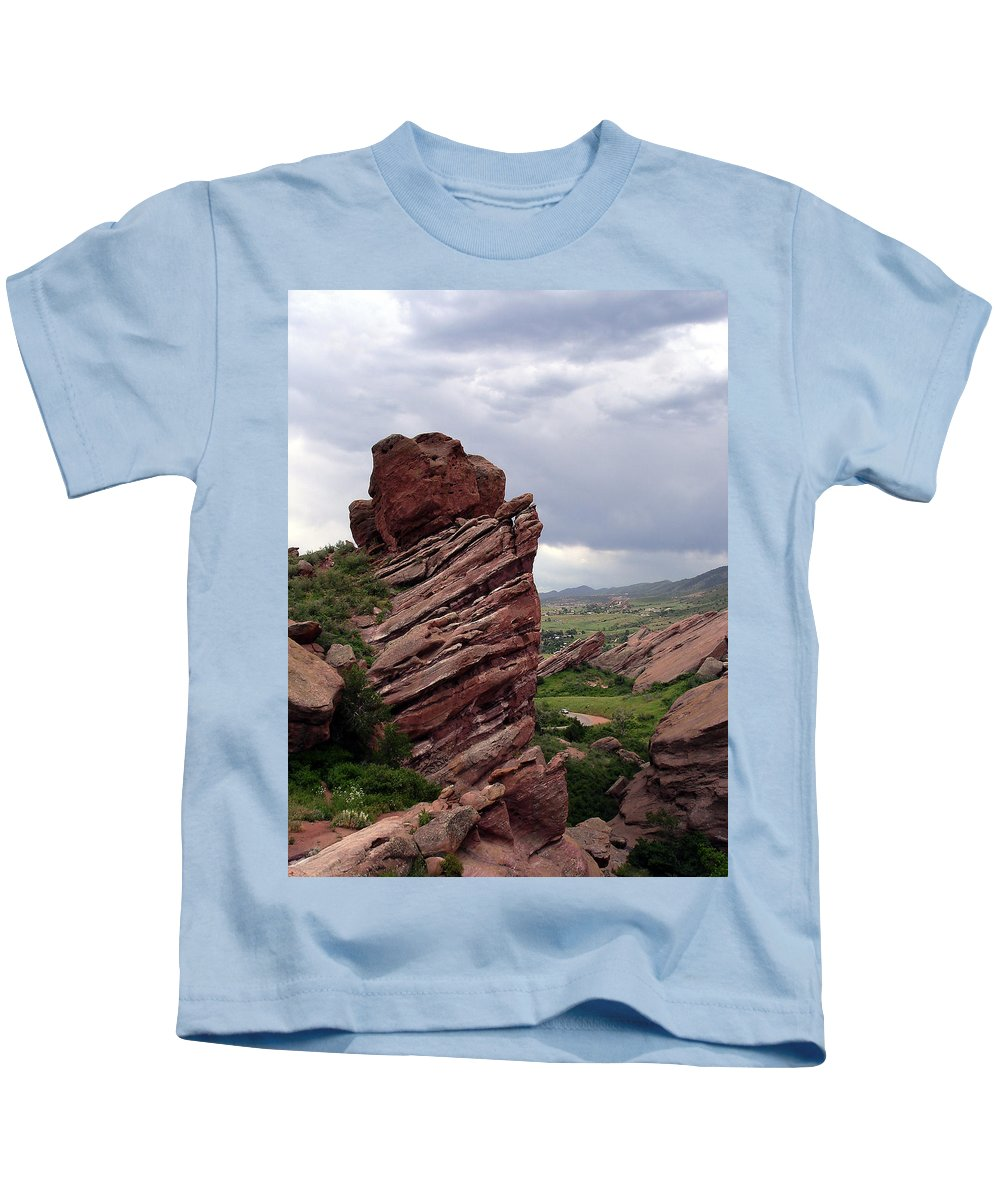 Red Rocks Kids T-Shirt featuring the photograph Red Rocks Colorado by Merja Waters
