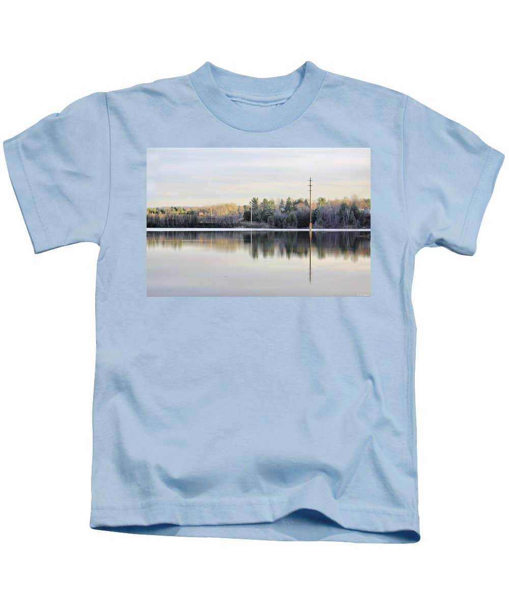 Water Kids T-Shirt featuring the photograph Reflections Across The Water by Deborah Benoit