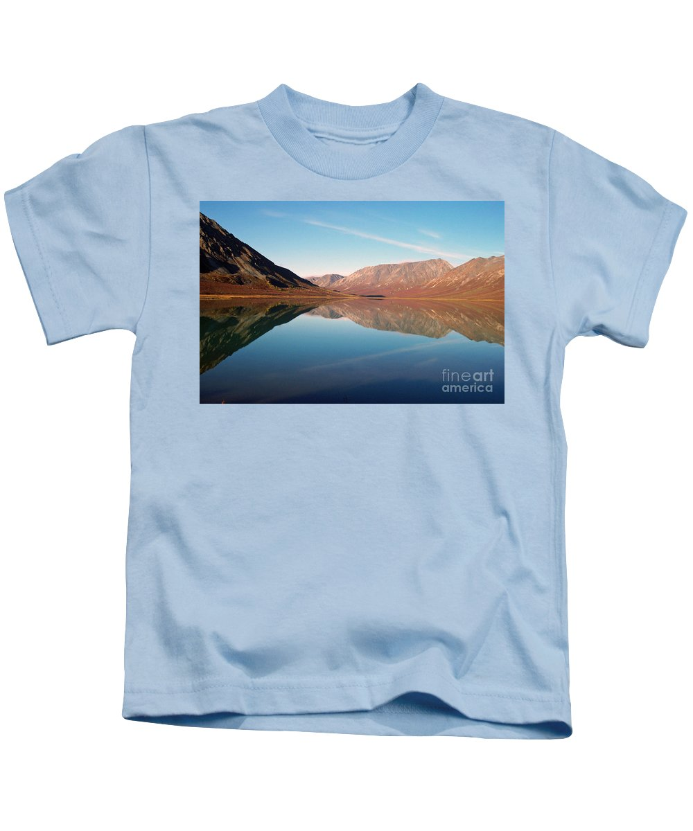 Lake Kids T-Shirt featuring the photograph Mountains Reflected On A Beautiful Lake by Denise McAllister