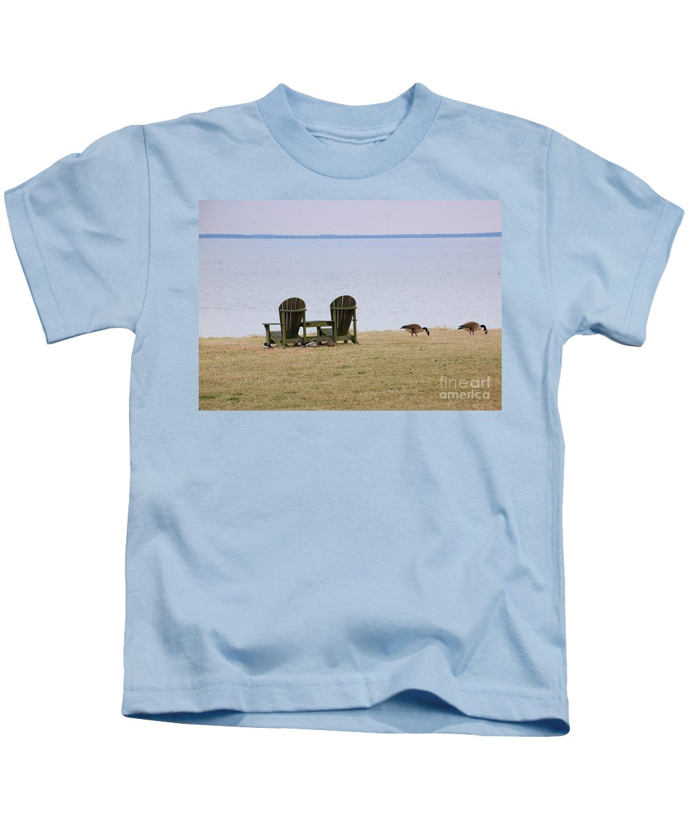 Chairs Kids T-Shirt featuring the photograph Relax by Debbi Granruth