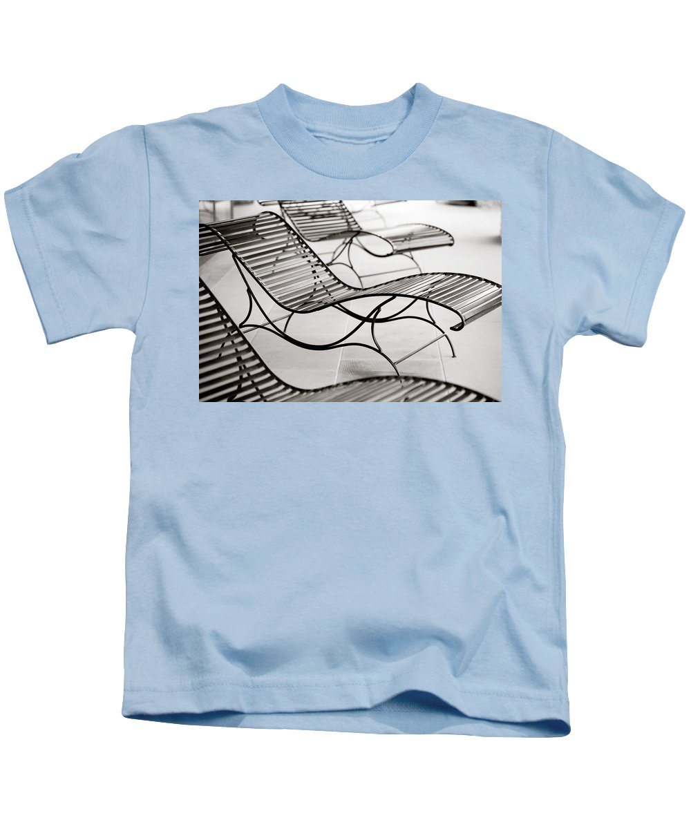 Chair Kids T-Shirt featuring the photograph Relaxation by Marilyn Hunt