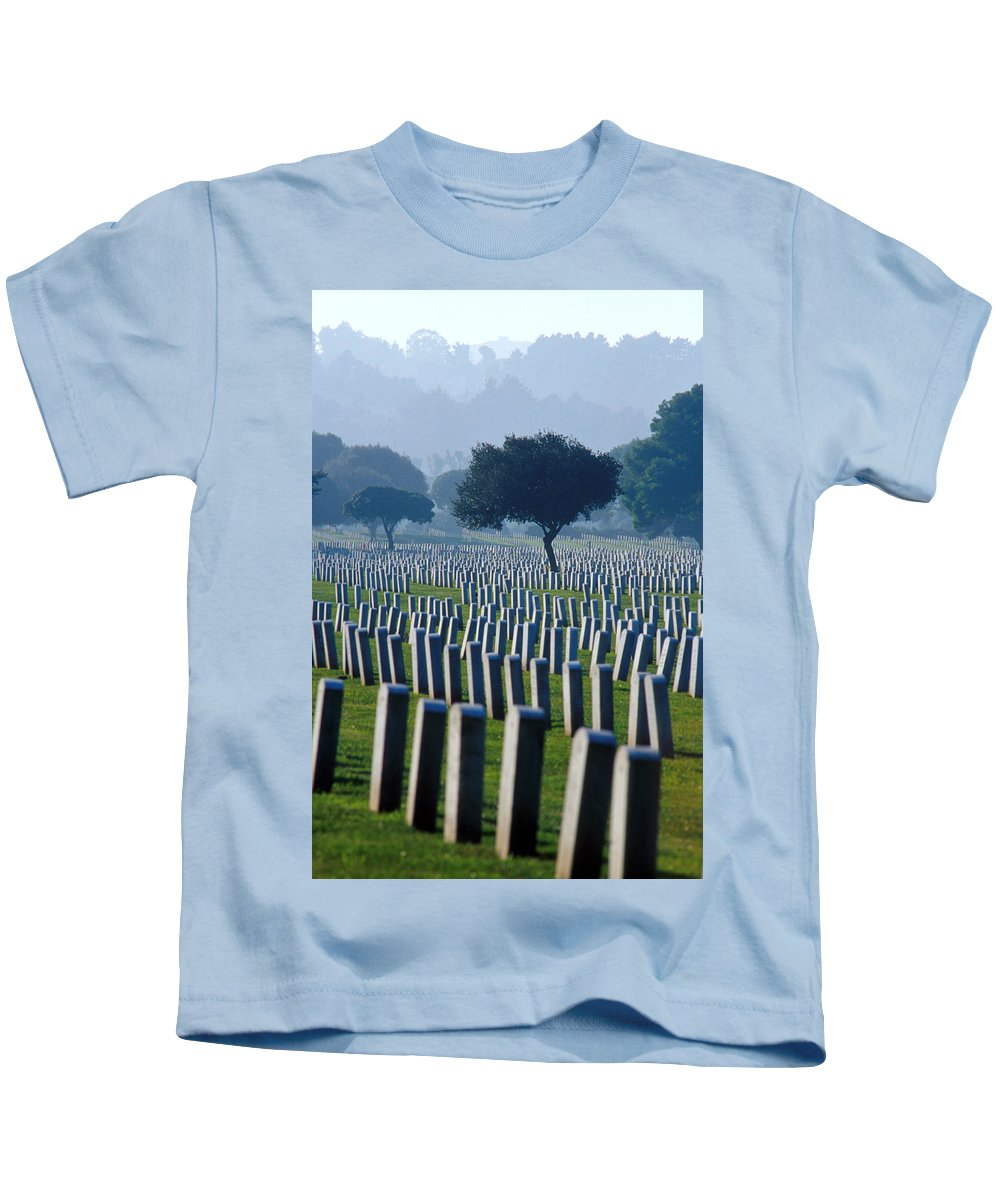 National Cemetery Kids T-Shirt featuring the photograph Remembering Walt Bem by Jerry McElroy