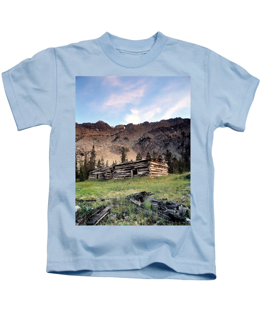 Cabin Kids T-Shirt featuring the photograph Remote by Leland D Howard