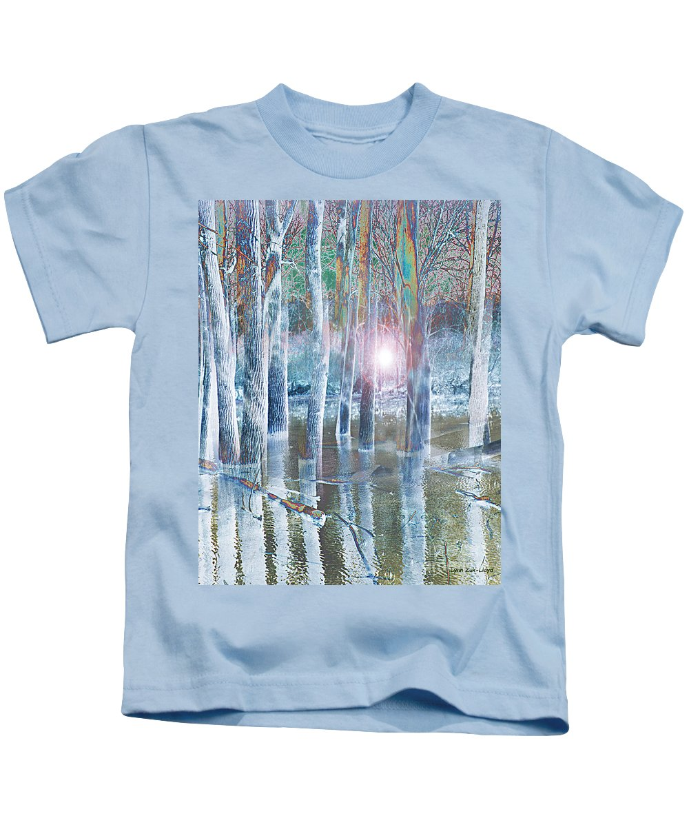 Hope Kids T-Shirt featuring the digital art Rescued By The Lord by Lynn Zuk-Lloyd