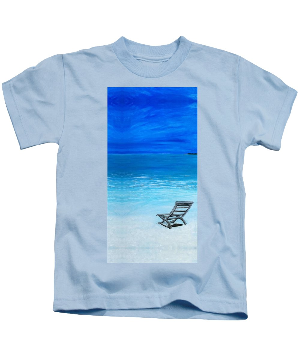 Beach Kids T-Shirt featuring the painting Retreat by MJ Cooper